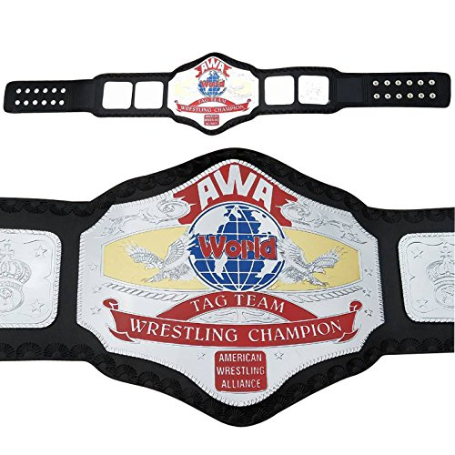 AWA World Tag Team Championship Replica Belt Thick Brass Plates Adult Size (Belt Replica Nwa)