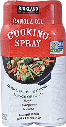 Kirkland Signature Canola Oil Cooking Spray Non-GMO 2/17 - Spray Pan