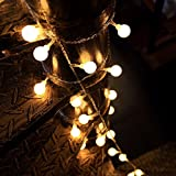 Ball String Lights, 100 LED 33ft/10m Globe Fairy Lights Christmas Lights for Garden Patio Party and Holiday Decoration (Warm White)