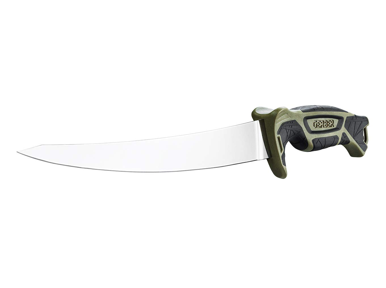 30-001446 Gerber Anglermesser mit Scheide und Schleifstein Controller 6/'/' Klingenl/änge: 16 cm