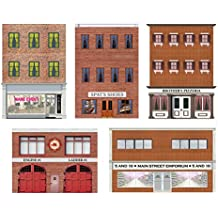 Model Train Scenery Sheets - HO Scale Storefronts and Rears