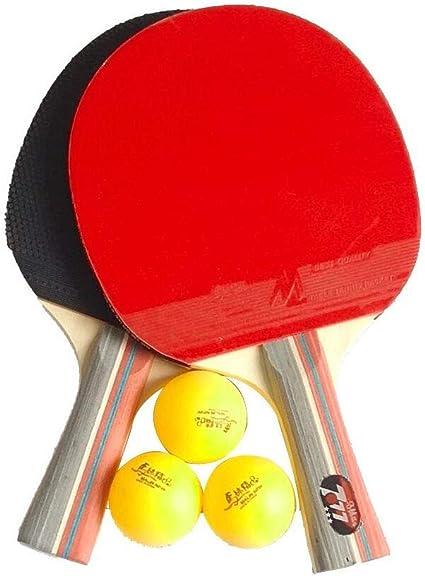 YUYAXQP PortátilRaqueta De Tenis De Mesa Ping Pong Caucho De Doble ...