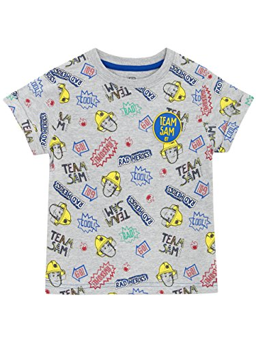 Tee Shirts Fireman (Fireman Sam Boys' Fireman Sam T-shirt Size 7)