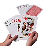 Giant Jumbo Deck of Big Playing Cards Fun Full Poker Game Set - Measures 5