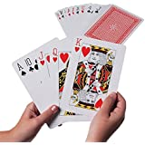 "Giant Jumbo Deck of Big Playing Cards Fun Full Poker Game Set - Measures 5"" x 7"" by Super Z Outlet®"