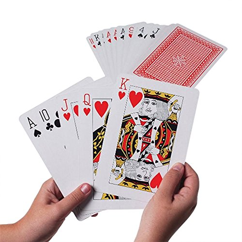 Super Z Outlet Giant Jumbo Deck of Big Playing Cards Fun Full Poker Game Set - Measures 5