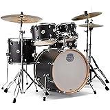 MAPEX ST5045FIK Storm 5 Piece Fusion Drum Set with Chrome Hardware, Ebony Blue Grain