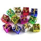 Amanod 12PC 2017 Fashion Christmas Tree Ornaments Boxes Decorations