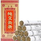 Moxa Sticks Pure Handmade Rolls Mugwort Moxibustion Artemisia Wormwood Natural Herbal Chinese Medicine(10 per Box)