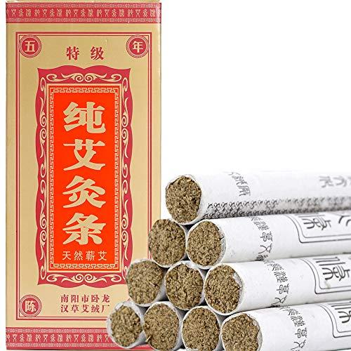 - Moxa Sticks Pure Handmade Rolls Mugwort Moxibustion Artemisia Wormwood Natural Herbal Chinese Medicine(10 per Box)