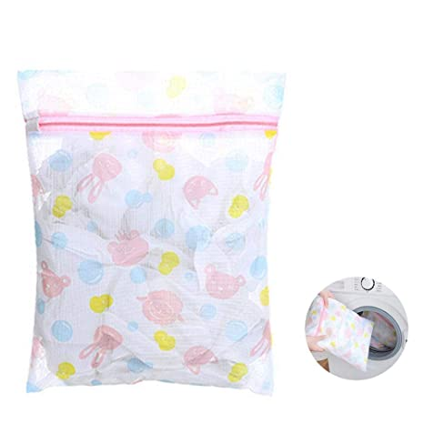 KOBWA - Bolsas de lavandería de Malla con Cremallera para ...