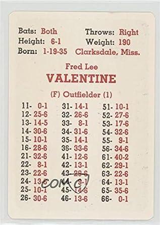 Amazoncom Fred Valentine Baseball Card 1968 Apba