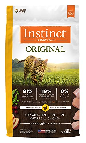 (Instinct Original Grain Free Recipe with Real Chicken Natural Dry Cat Food by Nature's Variety, 5 lb. Bag)
