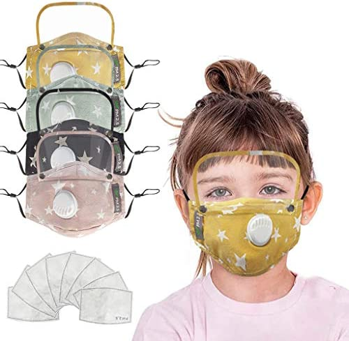 Fast Delivery Kids Seamless Face Bandanas, with Breathing 8 Filter Sheet 4Pcs Multicolor 8 Filter, W Eye Bandanas