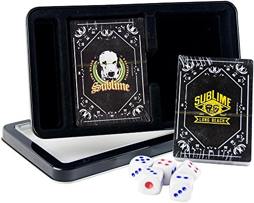 (Sublime Licensed in Lou Dog & Sublime Logo Double Set Playing Cards with DICE in TIN Box)