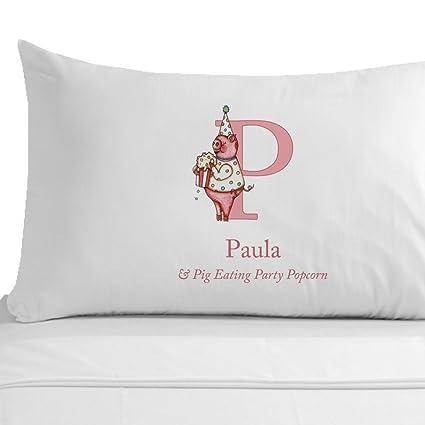 Cerdo con palomitas tortec almohada, niño o niña nombres comenzando con una P, 100