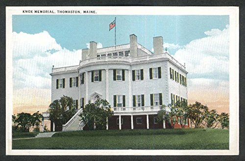 Knox Memorial replica building Thomaston ME postcard 1930s