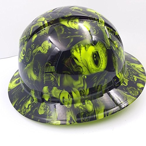 Wet Works Imaging Customized Pyramex Full BRIM NEW GREEN TATTOO BABES HARD HAT With Ratcheting Suspension by Wet Works Imaging (Image #2)