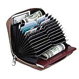 Leather Credit Card Wallet Women RFID Blocking Card Case Organizer Passprt Wallet