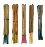 INA KI Hand Made Incense Sticks Premium 5 Fragrance Infused with Essential Oils Pack 40gm Each - (200 Gram Pack) Frankincense, Green Wood, Rose, Guggul (Myrrh Resin) and Sandalwood
