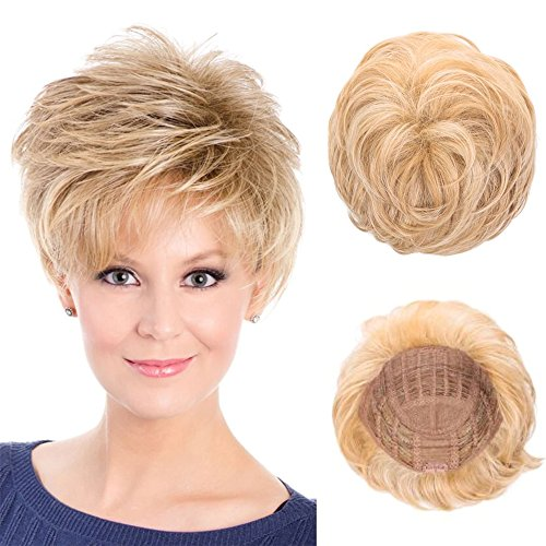 (BLONDE UNICORN Short Graceful Wig with Soft Texture Full Hair Head Wigs for Women(27/613) )