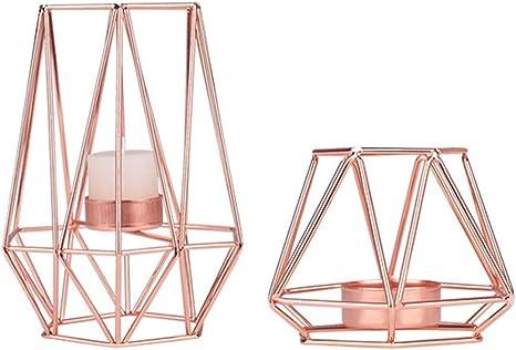 JY/&WIN Neues Set mit 3 Kerzenhaltern f/ür Kerzenhalter und Teelicht Hohe Elegante Kerzenhalter aus Glas Kerzenhalter mit Goldener S/äule Kerzenhalter f/ür Wohnzimmerschmuck Tischdekoration Elegante