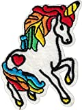 UNICORN PEGASUS Iron On Patch * Lot of 2 pieces * Applique Motif Spiritual Horse Decal 2.8 x 2 inches (7 x 5 cm)
