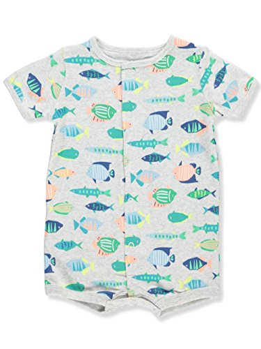 Carters Rompers Boys (Carter's Baby Boys' Multi Fish Snap-up Romper 6 Months)