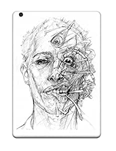 New Arrival Case Cover With IOBSSdm21160eYXVX Design For Ipad Air- Drawing Artistic Weird Head Abstract Artistic