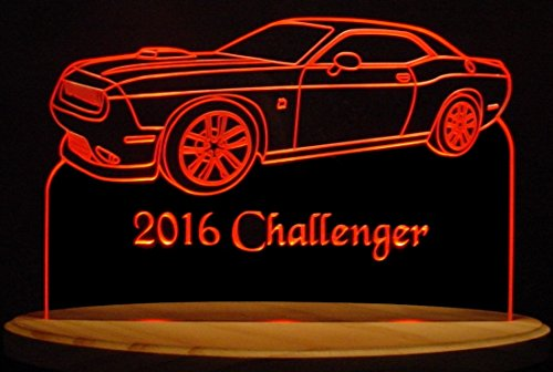2016 Challenger RT Acrylic Lighted Edge Lit 13