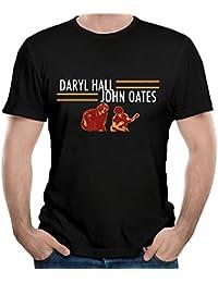 Men's Daryl Hall and John Oates Tour Funny Travel Black T-Shirts Short Sleeve