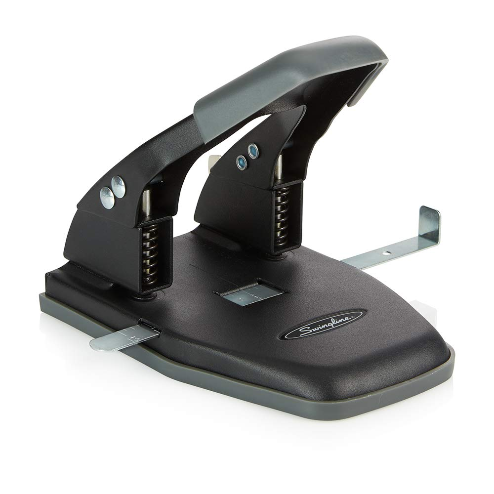 Swingline Comfort Handle 2-Hole Punch, 50% Easier, 1/4 Hole Size, 28 Sheets (A7074050) 1/4 Hole Size ACCO Brands SWI74050