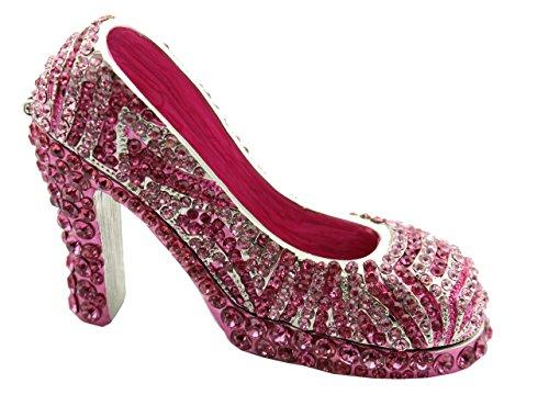 - Miniature High Heel Women Shoe Trinket (Pink)