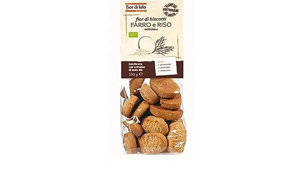 Fior di Loto Fior di espelta galletas y arroz integral orgánicos 250g: Amazon.es: Salud y cuidado personal