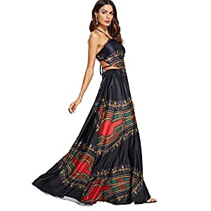 Floerns Women's Sexy Plus Size Maxi Dress Sleeveless Long Party Dress