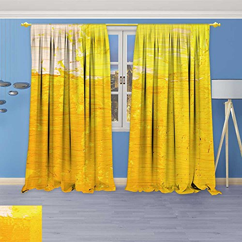 (SOCOMIMI Room Darkening/Thermal Insulated Grommet Window Curtains Wallpaper Texture Background of Fragment of Oil Set of Two Panels 120W x 84L inch)
