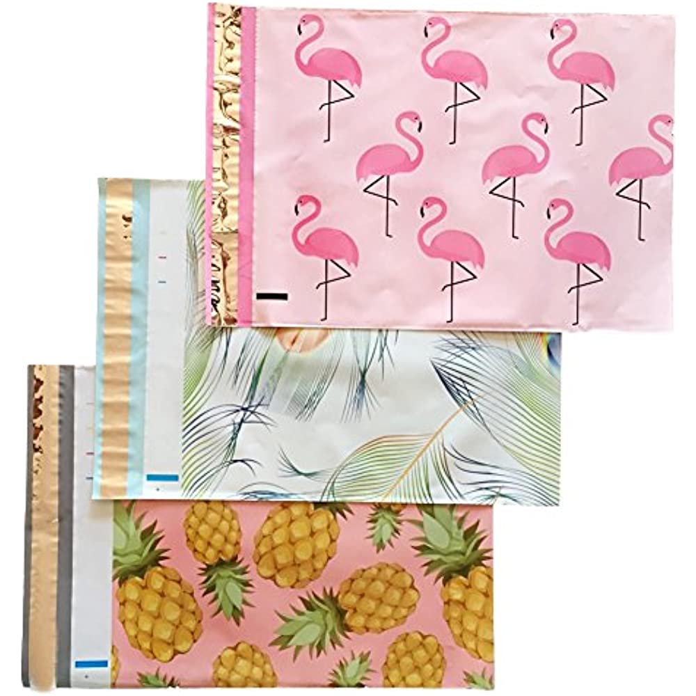 150 Set 10x13 PINEAPPLE Flamingo CACTUS Mailers Poly Shipping Envelopes Bags