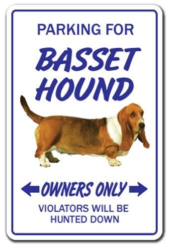 BASSET HOUND Sign dog pet parking signs vet pet puppy kennel| Indoor/Outdoor | 12