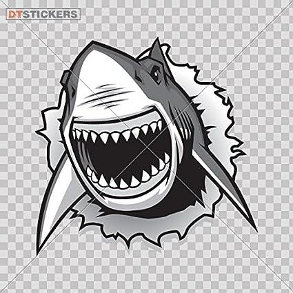 Shark jaws. Amazon com vinyl stickers