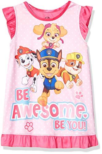 Nickelodeon Girls' Toddler Paw Patrol Nightgown, Pawesome Pink, 2T -