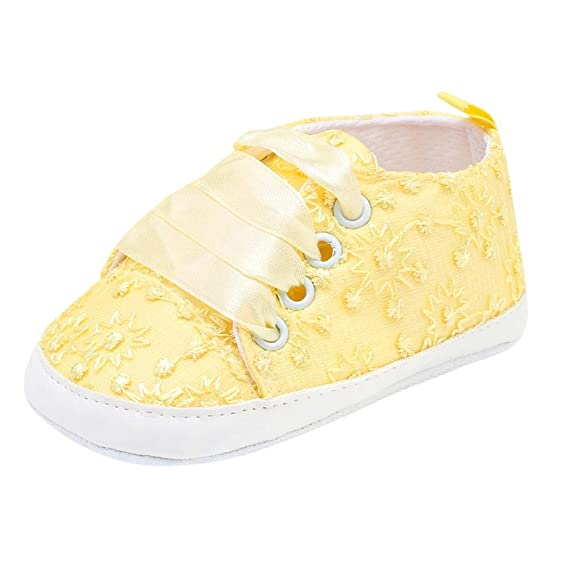 ZODOF Zapatillas de bebé recién Nacido del cordón del Bordado Floral Suela Linda Suave Zapatos Casuales Vintage Calzado Deportivo Running Zapatos Ligero: ...