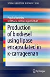 Production of Biodiesel Using Lipase Encapsulated In κ-Carrageenan, Ravindra, Pogaku and Jegannathan, Kenthorai Raman, 3319108212