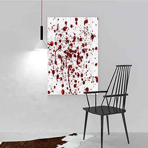 Philip C. Williams Paintings of Decorative Frameless Splashes of Blood Grunge Style Bloodstain Horror Scary Zombie Halloween Themed Restaurant Bedroom Painting W12 x -