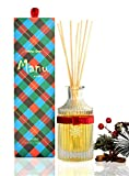 Manu Home Sale Holiday Spice Reed Diffuser Set ~ Beautiful Glass with a Blend of Evergreen, Red Currant, and Juniper Berry~ Fragrance is Drawn from Pure Essential Oils of botanicals~ Made in USA!