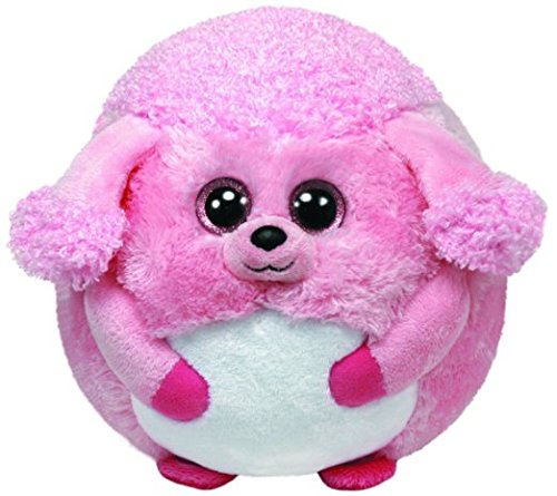 (TY Beanie Ballz Lovey Plush - Pink Poodle, Regular)