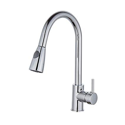 Kitchen Sink Faucet Pull Down Sprayer Single Handle, Kitchen Faucet Single  Hole With Pull Out
