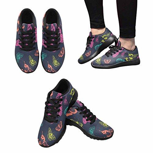 InterestPrint Womens Jogging Running Sneaker Lightweight Go Easy Walking Comfort Sports Running Shoes Butterflies Pattern Multi 1 O42XWX6Oje