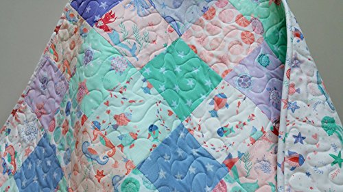 Pastel Nautical Baby Quilt by Now and Then Quilts