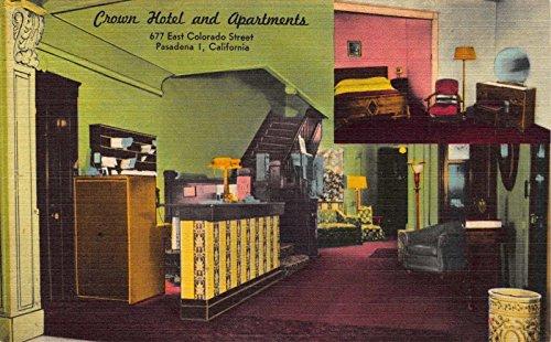 Linen Postcard Crown Hotel and Apartments in Pasadena, - Stores Pasadena In