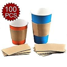 Aspire Kraft Paper Cup Sleeve 8 Ounce / 12 Ounce, 100 Pcs - 8 ounce